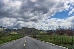 Mountainous road near Metsovo, Greece Stock Images
