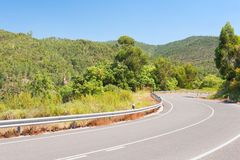 Mountainous road in Portugal Royalty Free Stock Photos