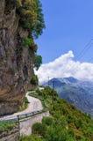 Mountainous road in Tzoumerka, Epirus, Greece. Mountainous road in Tzoumerka, Greece Stock Images