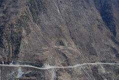 Mountainous road  in west  China Royalty Free Stock Images