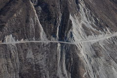 Mountainous road  in west  China Stock Images