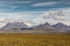 Mountainous scenery at Brae of Achnahaird, Scotland. Royalty Free Stock Photos