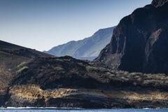 The mountainous shoreline of Isabela. Galapagos, Ecuador Royalty Free Stock Photos