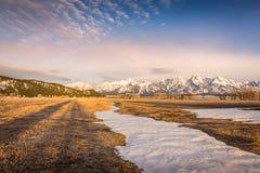 The scenic beauty of Grand Teton National Park royalty free stock photo