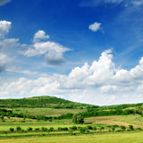 Mountainous terrain. And the blue sky Stock Photo
