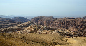 The mountainous terrain in Jordan Stock Photography