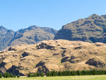 Mountainous terrain near Wanaka Southern Alps NZ Stock Photos
