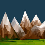 Mountainous terrain, polygonal background Royalty Free Stock Image