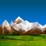 Mountainous terrain, polygonal background Royalty Free Stock Photo