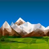 Mountainous terrain, polygonal background Royalty Free Stock Photo