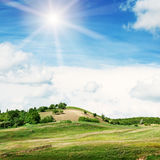 Mountainous terrain and  sky Royalty Free Stock Photos