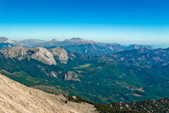 Mountainous valley beautiful view Royalty Free Stock Images