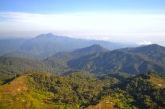 Mountainous view of Genting Highlands. (Malaysia) on a sunny day Royalty Free Stock Photos