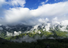 Mountainous view of Sapa, Vietnam Royalty Free Stock Photo