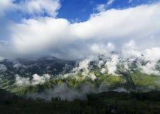 Mountainous view of Sapa, Vietnam. A nice cloudy mountainous range in Sapa, Vietnam Royalty Free Stock Photo