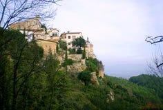 Mountainous village landscape. Spain village old landscape in Catalan Royalty Free Stock Photo