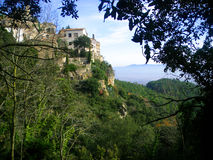 Mountainous village landscape. Spain village old landscape in Catalan Stock Photography
