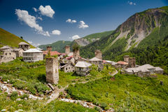 Mountainous village of Svaneti region Stock Photography