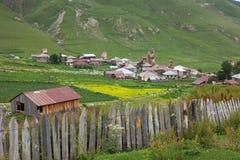 Mountainous village Stock Images