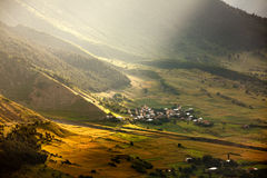 Mountainous village Stock Images