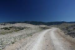 Mountainous way. This photo introduces  mountainous way with bends Royalty Free Stock Photo
