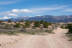 Mountainrange espagnol Sierra de Maria Images libres de droits