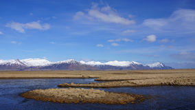 Mountainrange near Hofn in east fjords in Iceland Royalty Free Stock Photography