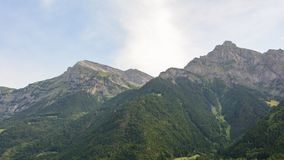 Mountainridge in den Schweizer Alpen stockbilder