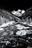 Mountainriver在伯纳Oberland,瑞士 库存图片