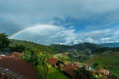 Mountains& x22 ландшафта; dao& x22 ing понедельника; Область Чиангмая гребень в районе деревни Hmong Стоковые Изображения RF