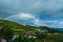 Mountains& x22 ландшафта; dao& x22 ing понедельника; Область Чиангмая гребень в районе деревни Hmong Стоковое Изображение RF