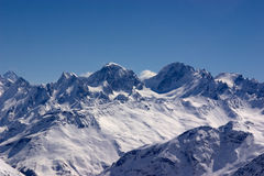 Mountains. Cold colored mountain chine covered with snow Stock Photography