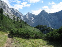 Mountains. A day in the bavarian mountains Royalty Free Stock Photography
