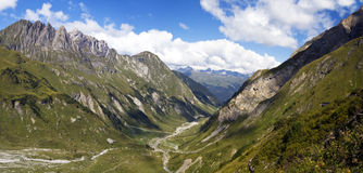 Mountains. Mountain peaks on a sunny day in Lechtal, Austria Royalty Free Stock Photography