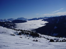 Mountains. Snowy mountains and blue skies Royalty Free Stock Photo