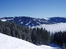 Mountains. Snowy mountains and blue skies Stock Image