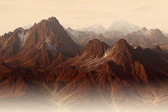 Mountains. Computer generated rocky mountains landscape Stock Images