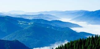 Mountains. Spectacular view in Romanian eastern Carpathian mountains stock photos