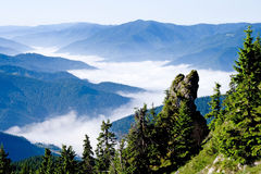Mountains. Spectacular view in Romanian eastern Carpathian mountains stock image
