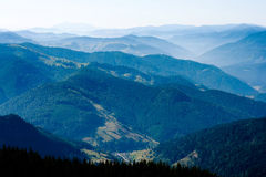 Mountains. Spectacular view in Romanian eastern Carpathian mountains from Rarau to Ceahlau royalty free stock image