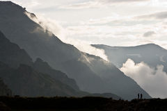 Mountains. Cloudly day in the Caucasus Mountains in summer Royalty Free Stock Image