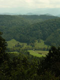 Mountains. Taken on a hazy day on the foothills parkway in the Eastern Smokey Mountains Stock Photo
