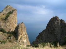 Mountains. Black sea. Karadag reserve. Crimea. Ukraine royalty free stock image