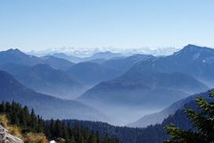 Mountains. A day in the bavarian mountains Stock Photography