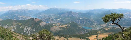 Mountains. Mountain panorama view, Cap, France Royalty Free Stock Photography