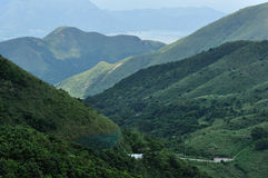 Mountains. Green mountains in Hong Kong Stock Photo
