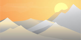 Mountains. A beautiful mountain landscape at sunset Royalty Free Stock Images