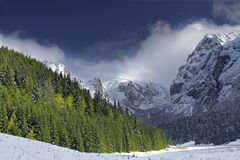 Mountains. Winter landscape - mountains - Tatry Poland stock photo