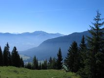 Mountains. A day in the austrian mountains Royalty Free Stock Photos
