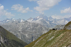 Mountains. Landscape with swiss rocky mountains Royalty Free Stock Photography